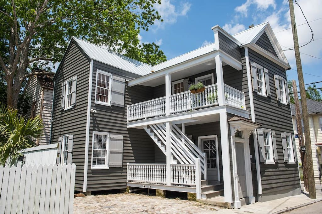 Renovated 1852 historic home with only two units (up & down)