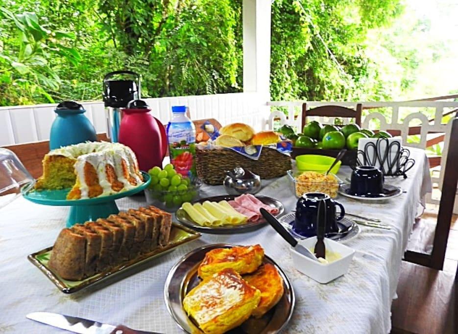 Espaço para o café da manhã