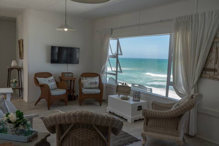 Living room with stunning sea views