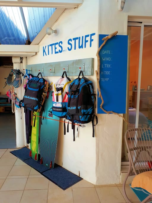 A special corner for my kite and surf guests