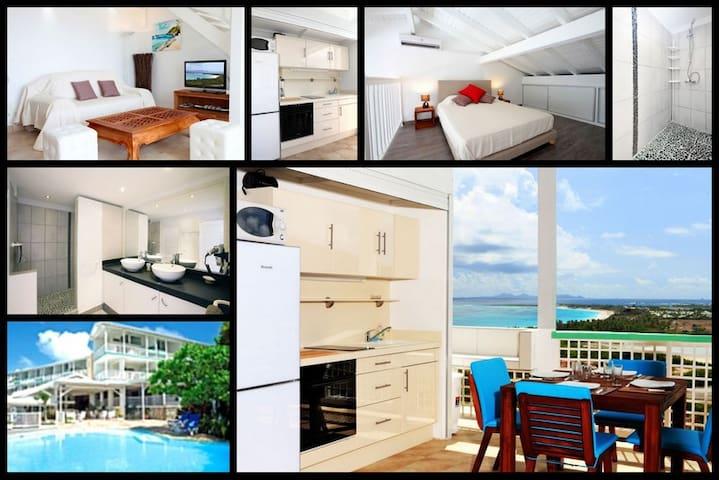 Large duplex studio with Ocean view - Grand-Case - Lägenhet