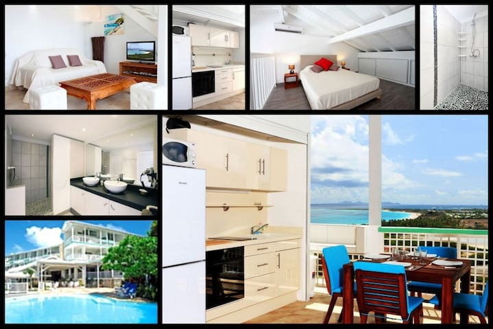 Large duplex studio with Ocean view - Grand-Case - Appartement