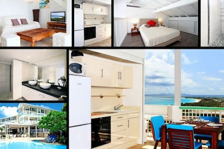 Large duplex studio with Ocean view - Grand-Case