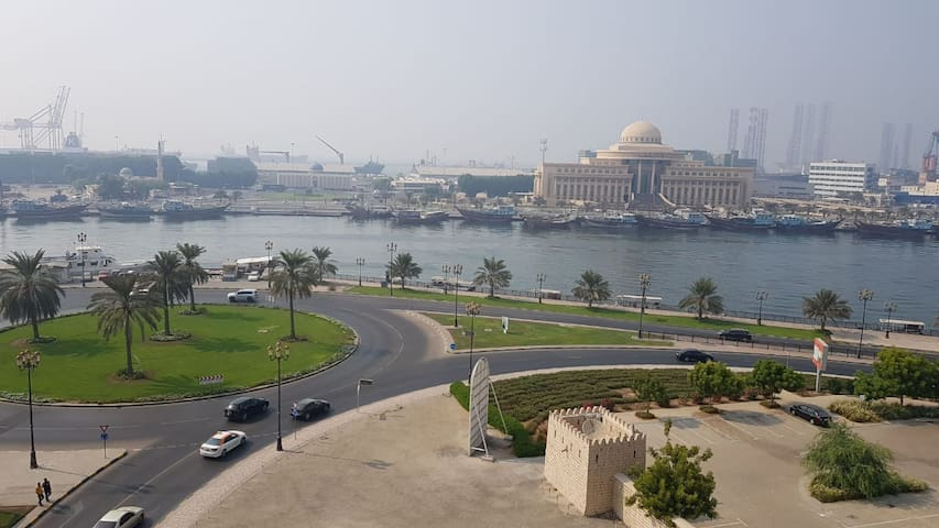 Heart of Sharjah accommodation available neat and