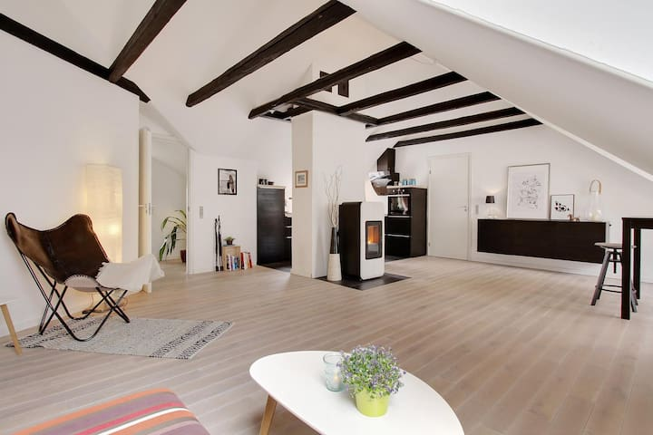 Spacious, renovated apartment in city of Vejle