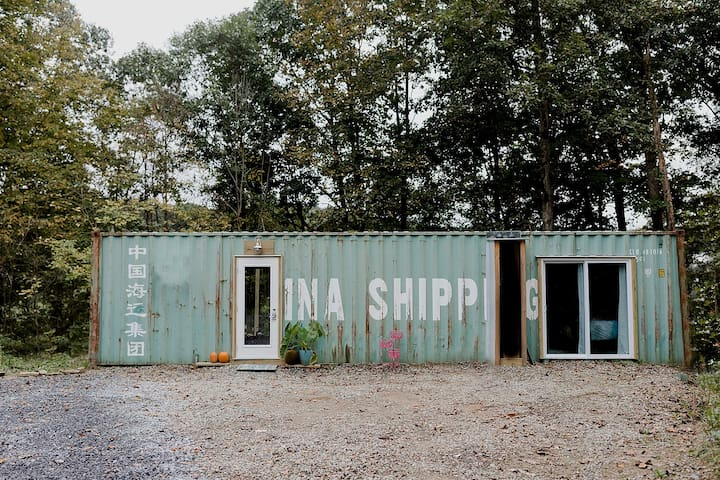 A Tiny House Shipping Container, Riverside Hideout