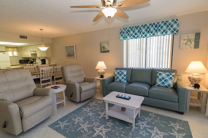 Value 2/2 Condo on Ground Floor Close to Pools, Ocean Boardwalk, Community Clubhouse with Fitness Room, Grilling Area!  Ocean Village Club H17