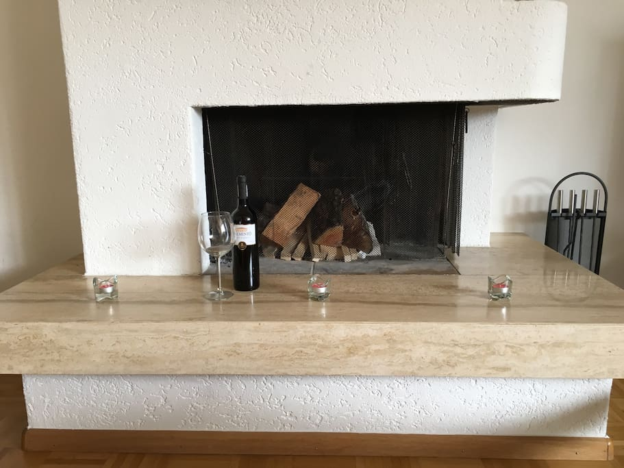 Enjoy a nice glass of wine in front of the fire