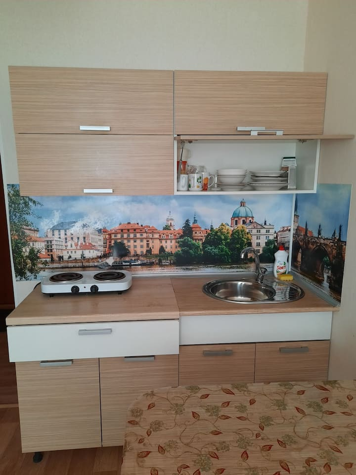 Квартира-студия   в новом районе Чебаркуля.
