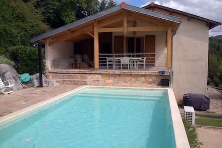 Maison avec piscine - Vue magnifique - Aspet - Casa