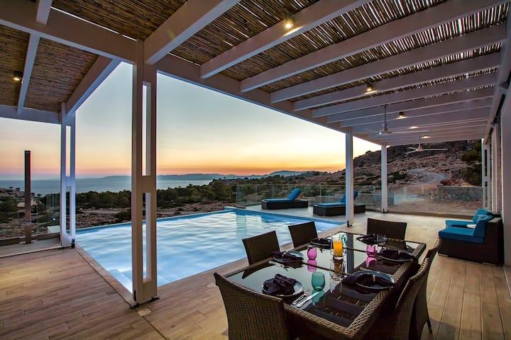 Villa Sophia-Rhodes New Villa w/ stunning sea view