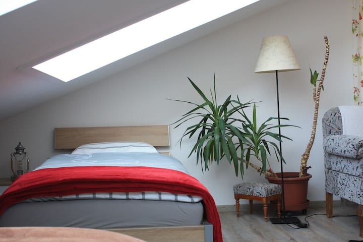 Ferienwohnung unterm Dach in Oberschwaben - Grünkraut - Apartamento