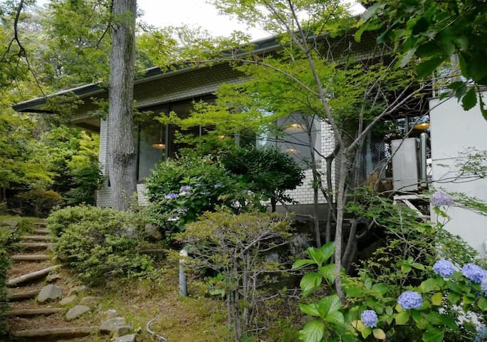 Quiet Hot Spring Ryokan Hotel in Hakone, Breakfast Included