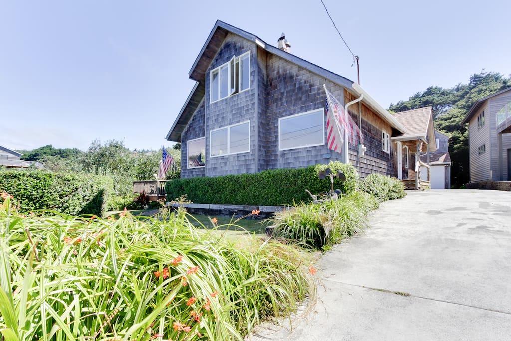 Classic beach home design and cedar siding make Malarkey's Roost a memorable destination.