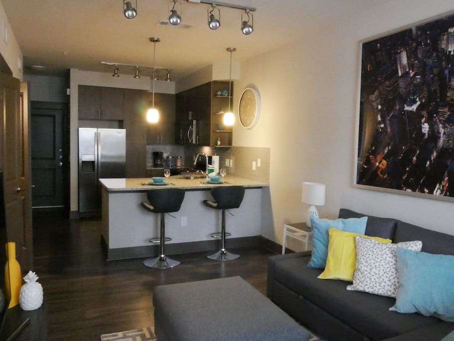 Fully furnished apartment with wonderful amenities