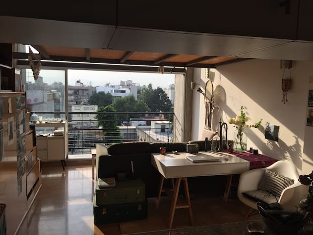 Bright penthouse loft with private rooftop terrace - Mexico City - Lägenhet