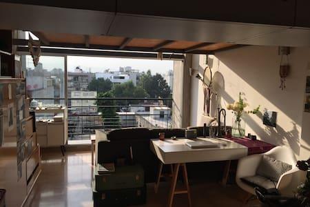 Bright penthouse loft with private rooftop terrace - Ciudad de México - Lakás