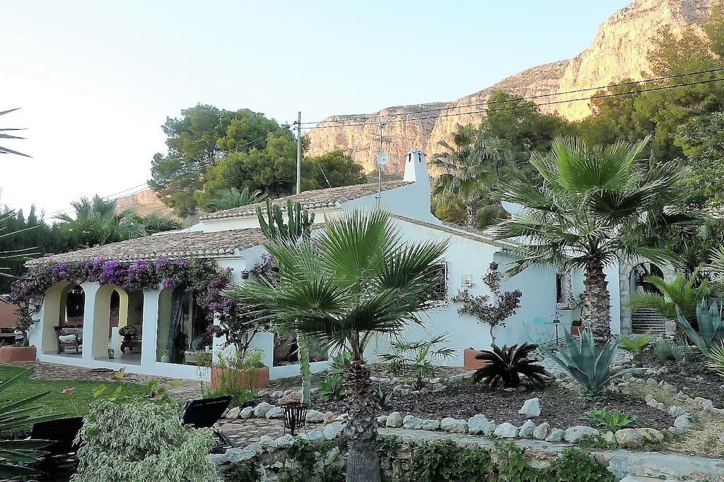 Frontside of the villa