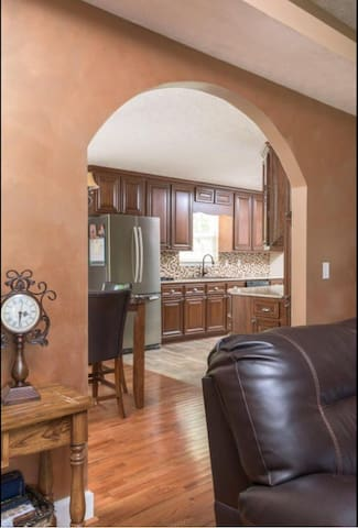 Looking into kitchen from family room