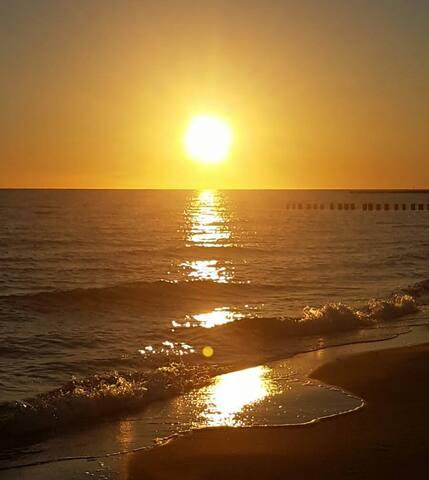 AURA Seaside z widokiem na morze 20 m od plaży
