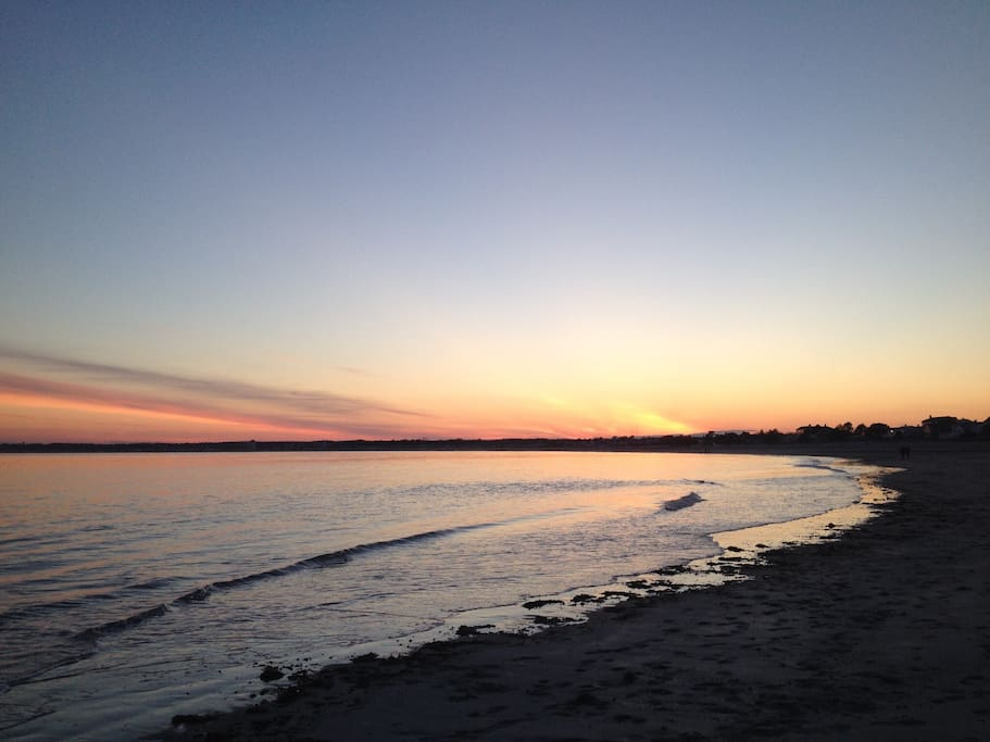 Enjoy beautiful sunsets on the beach on from Sunset Cottage.  This picture was taken a 10 minute walk from the cottage.