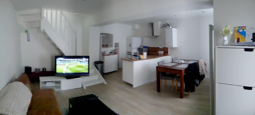 Chambre dans maison de ville proche de Paris - Septeuil - Apartemen
