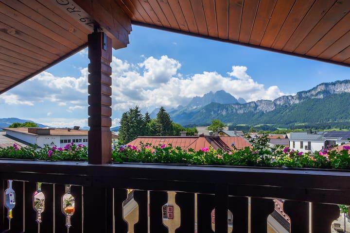 Appartement mit Sauna und Wilder-Kaiser-Blick
