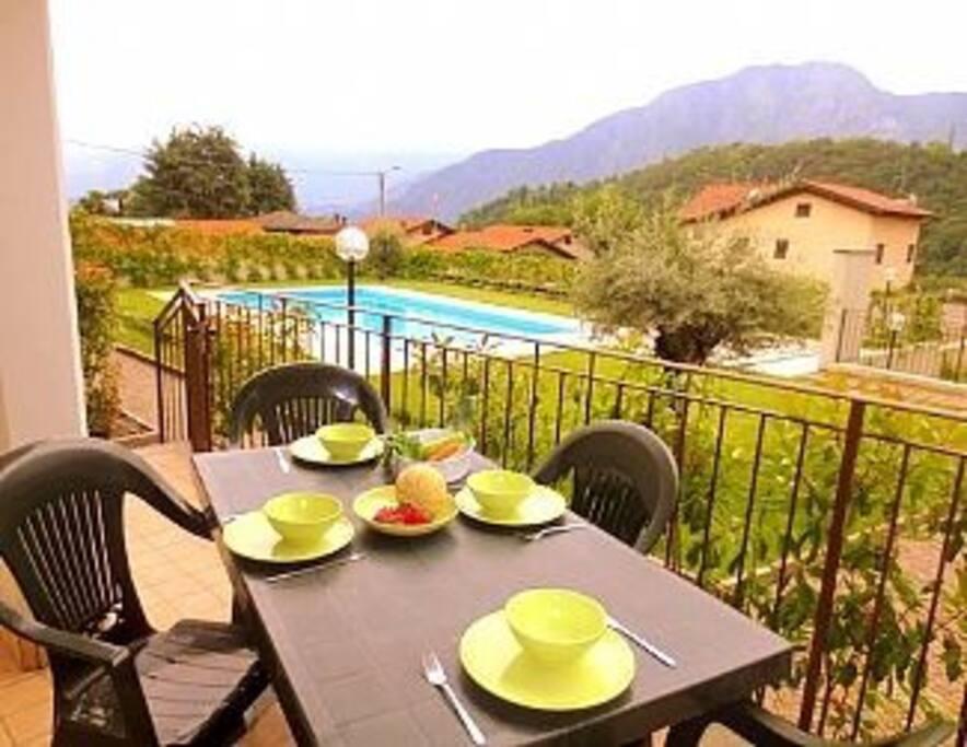 Dine alfesco on your private terrace
