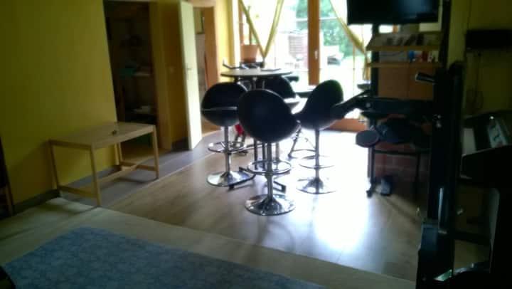 Studio with Wellness +Bar +Kitchen +Sleepingroom