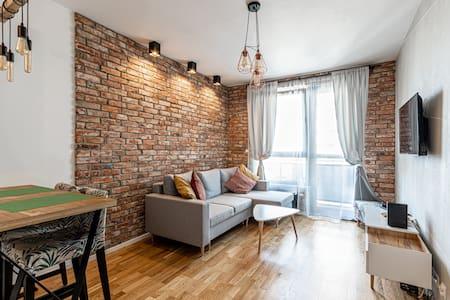 Apartment OdraTower (wroc4night) + free parking