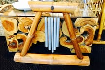 Vintage Balinese Bamboo Wind-charms.