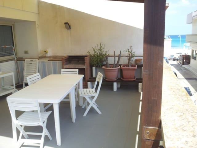 Apartment Directly on the Beach with Air Conditioning and Terrace; Pets Allowed