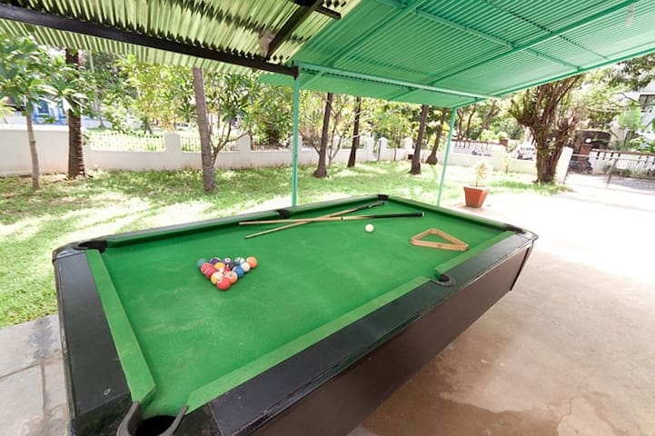 2BHK villa for rent with pool table