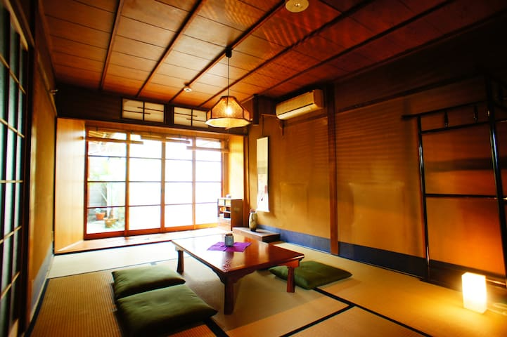 Kyoto Guest House Kami-watari/JP room with Garden - Kamigyō-ku, Kyōto-shi - Chambre d'hôtes