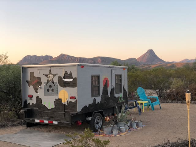 Prickly Pear Palace (Trailer @ Big Bend Glamping)