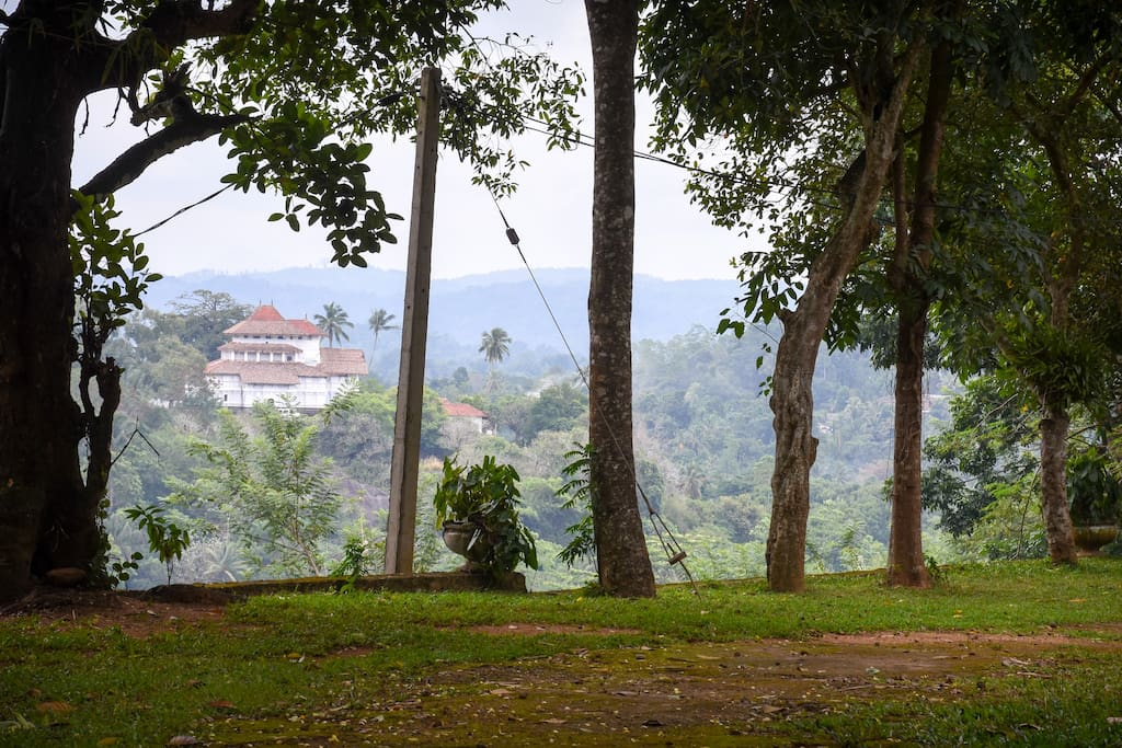 Unique view of the Lankathileke temple of 14th century- a magnificent building built on rock at a scenic location brings it's own peacefulness to the 'Captain's Lodge'  The view can be sighted nowhere else.