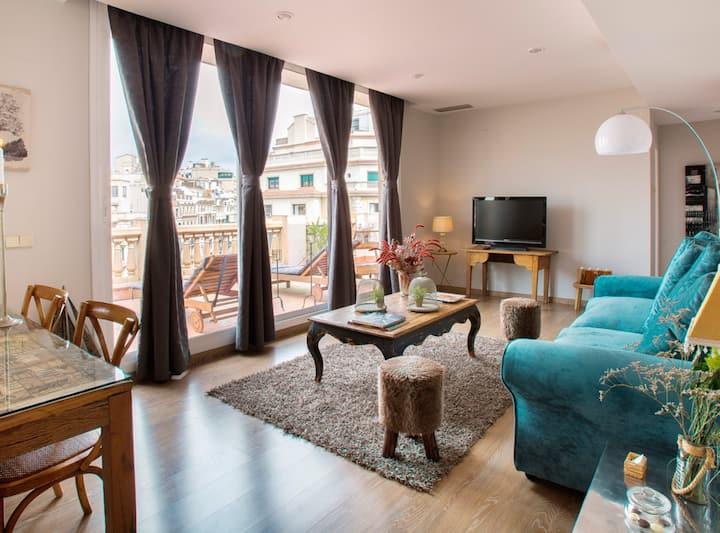 Fabulous Penthouse in Rambla Catalunya