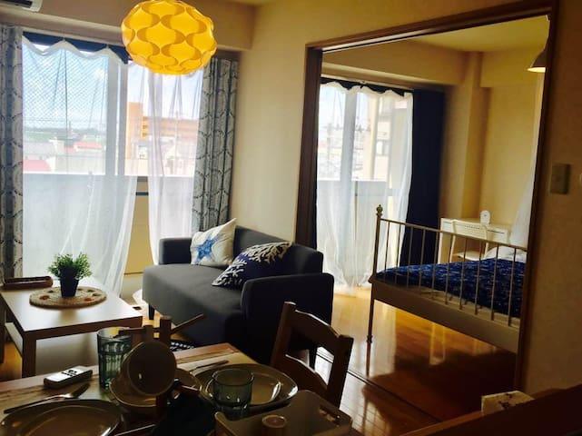 便利な立地でゆったり滞在。1LDK長期もOKコスパ 4B涼しくて満足できる部屋