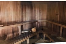 The sauna's room