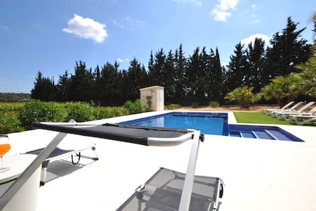 Private villa in Biniali with pool, A/C Wifi, bike - Biniali - Alpehytte