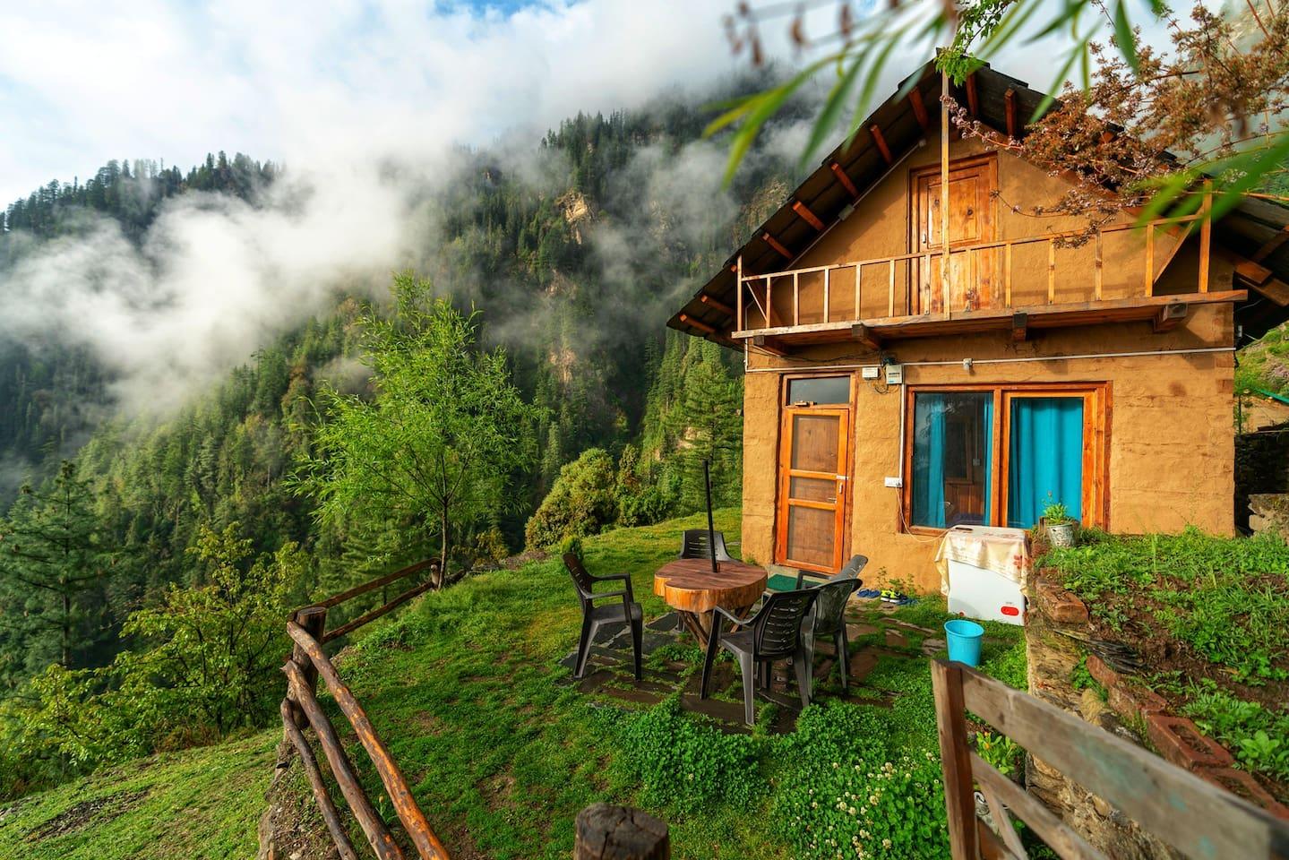 Our mountaintop cottage is surrounded by the forest on all sides. The most successful Airbnb in the town. We've a rating of 4.97, with 87, long, heartfelt reviews. The only property in Himachal with a rating of 4.97, among the ones with 50+ reviews.