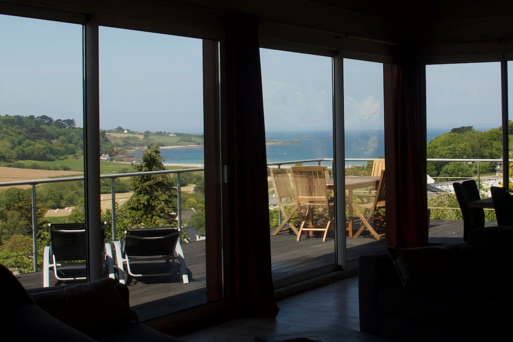 Sea view from the living room.