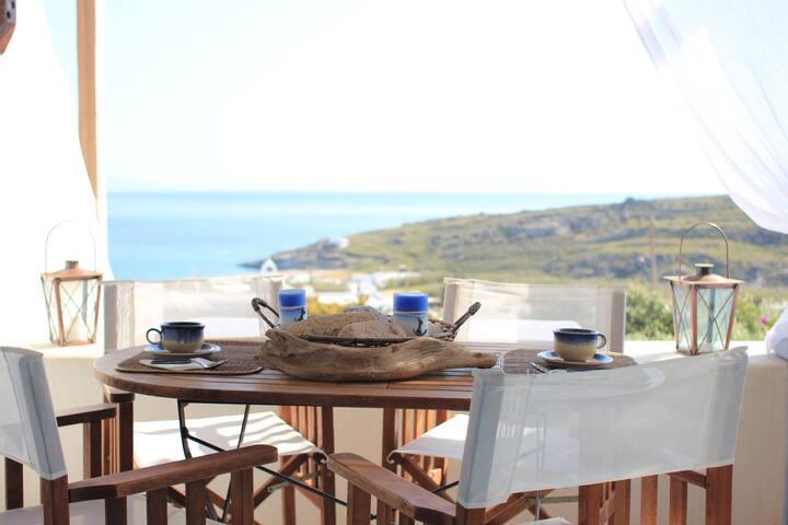 Lia beach Traditional House Elena - Ano Mera - Casa