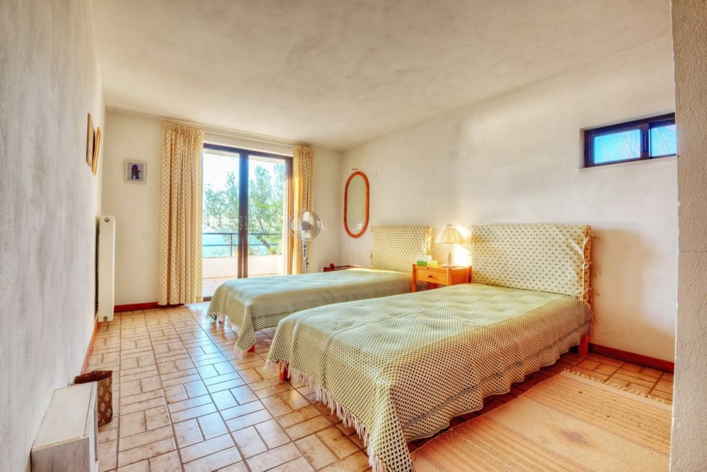 Ground floor guest room with private terrace..