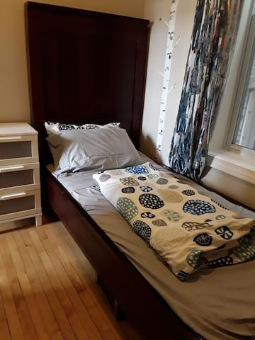 Solid wooden  twin extra long bed