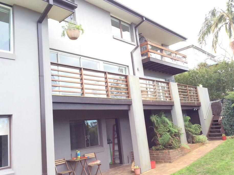 Main and bedroom balconies