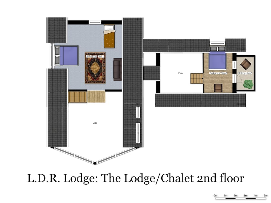 Floorplan The Lodge/Chalet upstairs