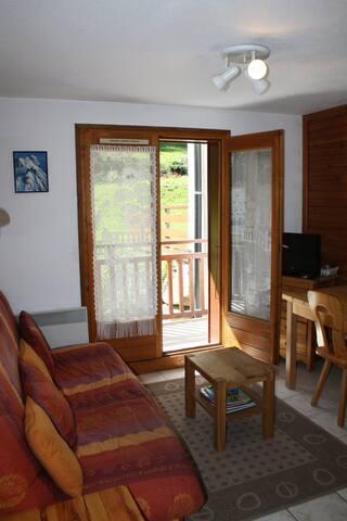 Appartement 2 pcs ski aux pieds.