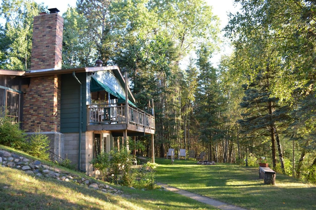 Secluded paradise on shingobee bay leech lake cabins for Cabins for rent in minnesota