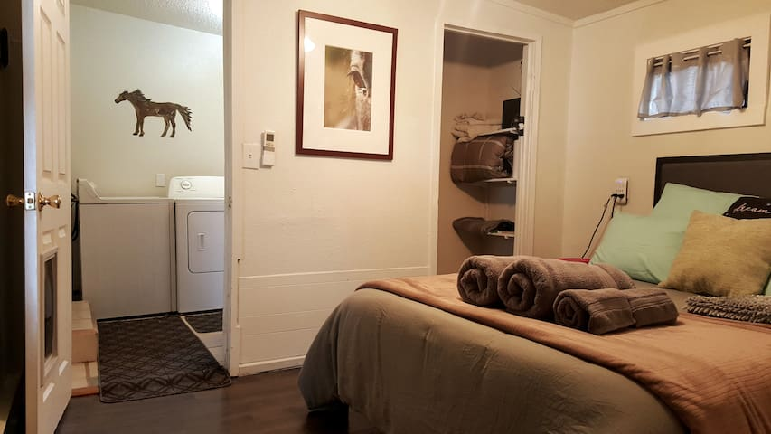 Private Entry Suite with bathroom + washer/Dryer